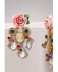 Dolce & Gabbana - Multicolor Roses Earrings - Lyst