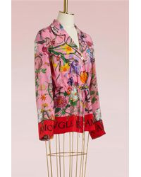 Gucci - Multicolor Flora Snake Silk Shirt - Lyst