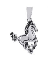 Aeravida - Metallic Noble Stallion .925 Sterling Silver Horse Pendant - Lyst