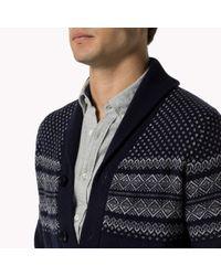 Tommy Hilfiger - Blue Wool Cardigan for Men - Lyst