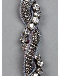 Deepa Gurnani - Gray Diamanté Embellished Headband - Lyst