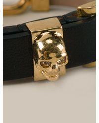 Alexander McQueen - Black Chain Cuff Bracelet - Lyst