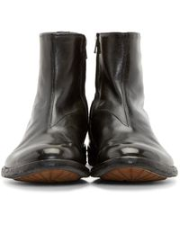 Officine Creative - Gray Grey Leather Archive Boots for Men - Lyst