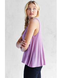 Silence + Noise | Purple Nashville Boatneck Tank Top | Lyst