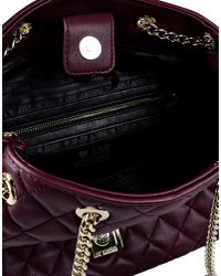Love Moschino - Purple Quilted Faux-Leather Shoulder Bag - Lyst