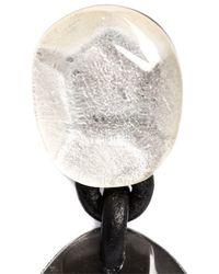 Monies | Black Linked Facet Clip On Earrings | Lyst