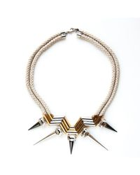Noir Jewelry | Metallic Double Rope Highlight Necklace | Lyst