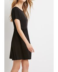 Forever 21 | Black Cutout-back Babydoll Dress | Lyst