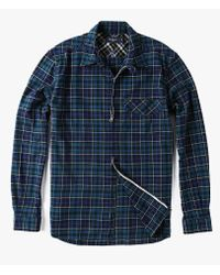 Paul Smith - Blue L/s Zip Tailored Flannel Shirt for Men - Lyst
