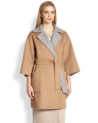 Max Mara Natural Reversible Wrap Coat