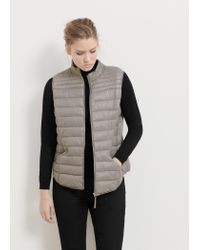 Violeta by Mango | Gray Quilted Gilet | Lyst