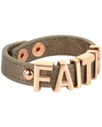 BCBGeneration - Metallic Faith Affirmation Bracelet - Lyst