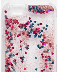 ASOS - Multicolor Iphone 6 And 6s Heart Liquid Glitter Case - Lyst