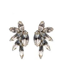 Elizabeth Cole | Metallic Mini Mohawk Earrings, Crystal | Lyst
