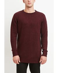 Forever 21 | Red Vented-hem Marled Sweater for Men | Lyst
