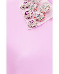 Cynthia Rowley - Pink Bonded Crepe T-shirt Dress - Lyst