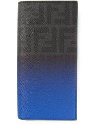 Fendi - Blue Billfold Wallet for Men - Lyst