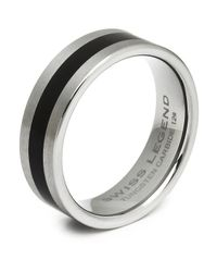 Swiss Legend | Gray Men'S Tungsten Carbide Ring for Men | Lyst