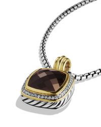 David Yurman - Metallic Albion Pendant With Smoky Quartz & Diamonds - Lyst
