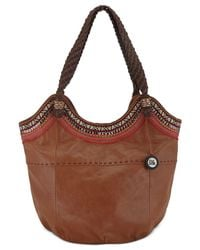 The Sak | Brown Indio Leather Large Tote | Lyst