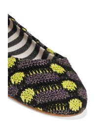 M Missoni - Purple Crochet-knit Ballet Flats - Lyst