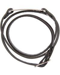 McQ - Black Razor Charm Bracelet - Lyst