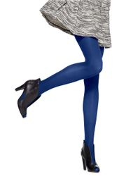Hue | Blue Lycra Opaque Tight | Lyst