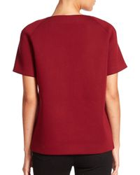 P.A.R.O.S.H. - Red Embellished Scuba Top - Lyst