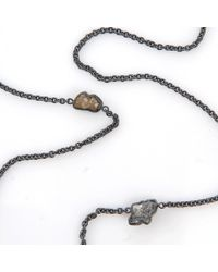 Todd Reed - Metallic Raw Diamond Station Necklace - Lyst