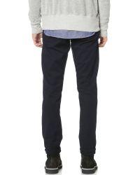 FRAME - Blue L'homme Straight Leg Twill Jeans for Men - Lyst