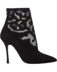 Manolo Blahnik - Black Bricamina Ankle Boots - Lyst