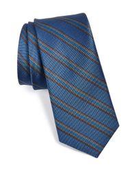 W.r.k. - Blue Stripe Silk Tie for Men - Lyst