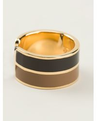 Fendi | Black Patterned Ring | Lyst