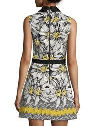 Alice + Olivia - Multicolor Elli Collared Floral Shirtdress - Lyst