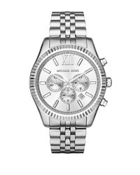 Michael Kors | Metallic Lexington Stainless Steel Bracelet Chronograph for Men | Lyst