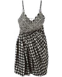 Ermanno Scervino - Black Embellished Houndstooth Dress - Lyst