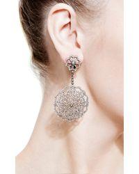 Bochic - Metallic Diamond Snowflake Earrings - Lyst