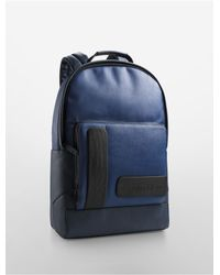 Calvin Klein | Blue White Label Devin Slim Backpack for Men | Lyst