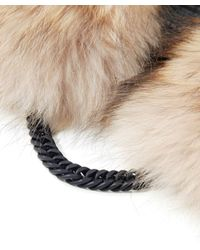 Yves Salomon | Natural Fur Collar With Chain | Lyst