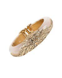 Betsey Johnson - Metallic Heaven Sent Pave Wing Bangle Bracelet - Lyst