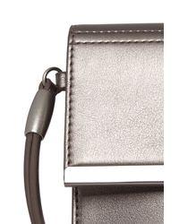 Warehouse - Metallic Clean Bar Detail Clutch - Lyst