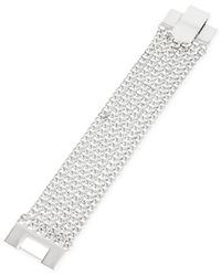 Kenneth Cole | Metallic Silver-tone Mesh Chain Bracelet | Lyst