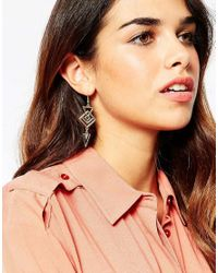 ASOS | Metallic 70s Geo Drop Earrings | Lyst