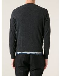 Moncler - Gray Knit Sweater for Men - Lyst