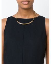 Isabel Marant | Natural Contrasting Panel Necklace | Lyst
