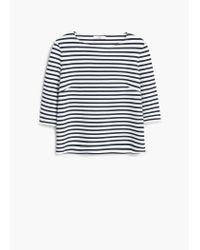 Mango | Blue Striped Top | Lyst