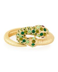 Kenneth Jay Lane - Green Embellished Snake Bracelet - Lyst