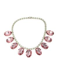 Tom Binns - Pink Giant Gem Crystal Necklace - Lyst