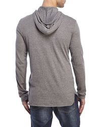 Alternative Apparel | Gray Hooded Long Sleeve Shirt for Men | Lyst