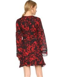 Parker - Red Milly Combo Dress - Lyst